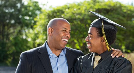 Father and son graduating
