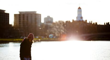 Girl by the charles river